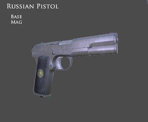 russian pistol gun 3d blend
