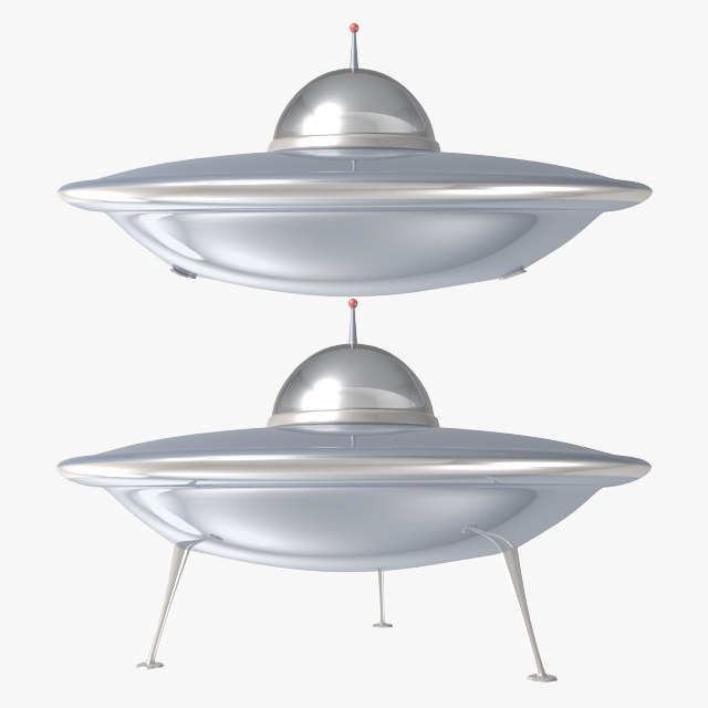 3d spaceship ufo model