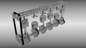 engine animations 3d model