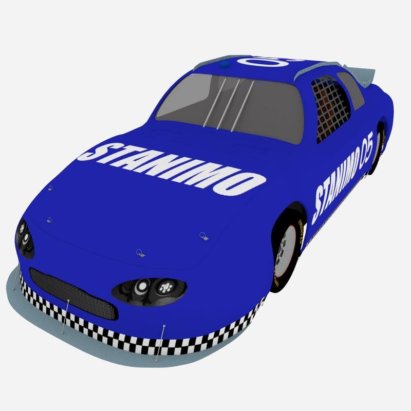 free obj model racing car