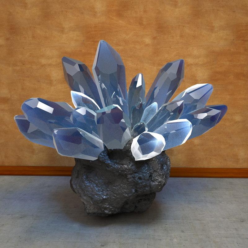 stone crystals c4d