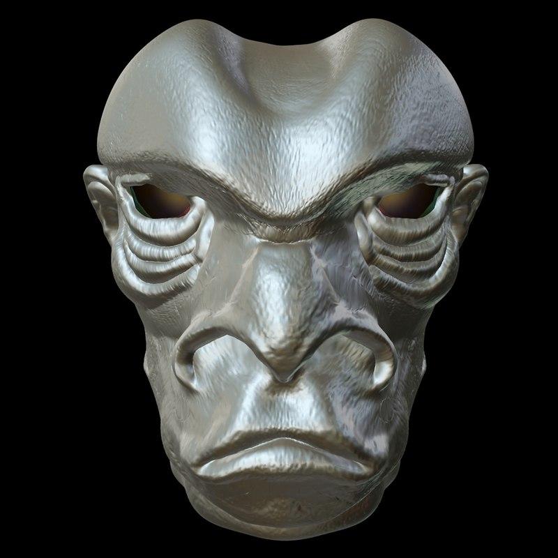 3d c4d extraterrestrial face