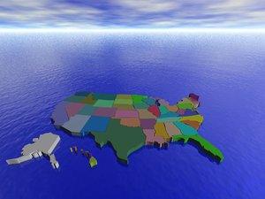 united states 3d model