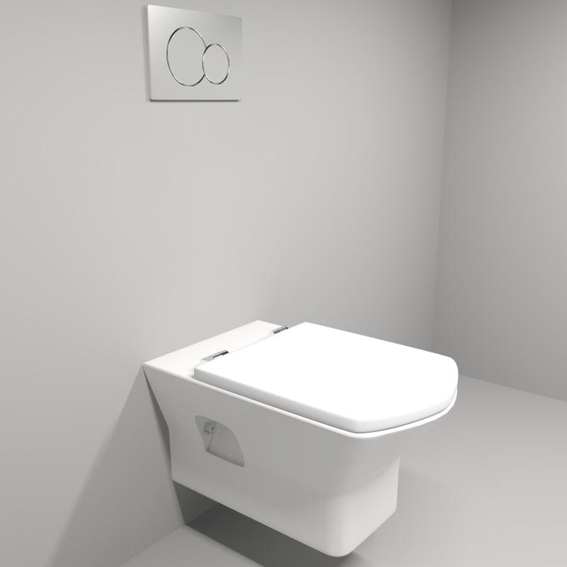 3d model wc toilet