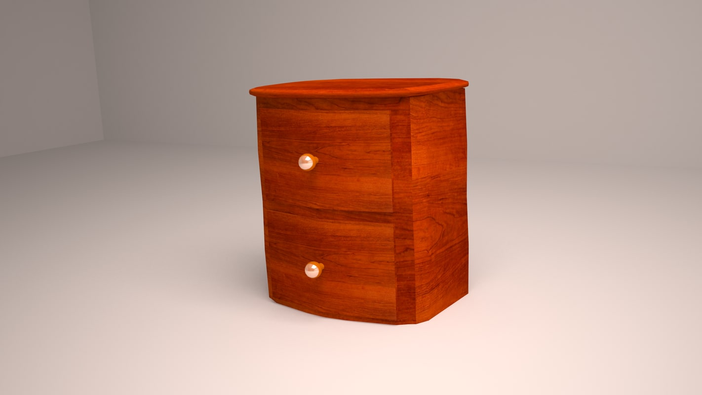 wooden nightstand 3ds