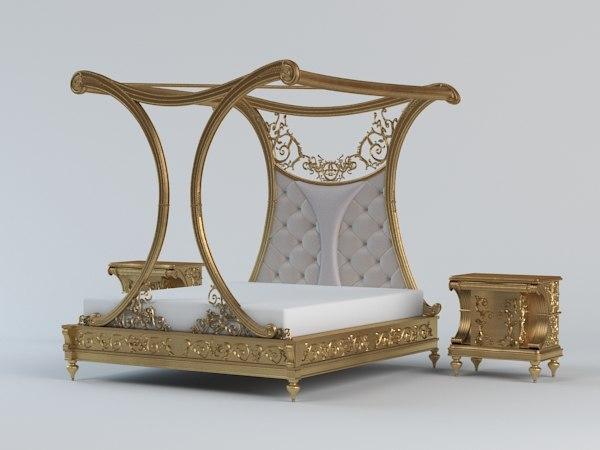 3d model classical bed
