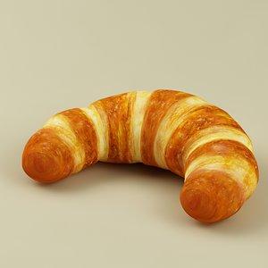 croissant 3d max