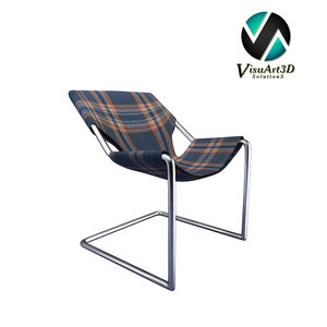 3d model modern paulistano chair whiskey