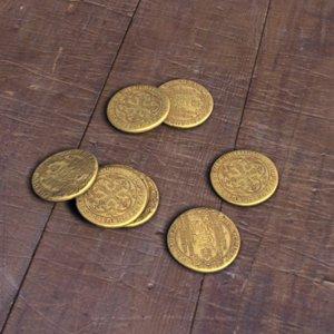 stack coins 3d obj