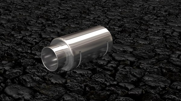 loud exhaust 3d model
