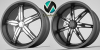 3d black ice rims