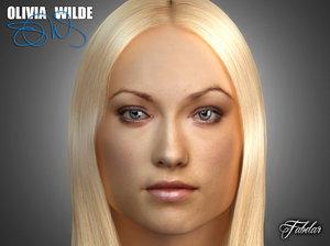 olivia wilde head 3d obj