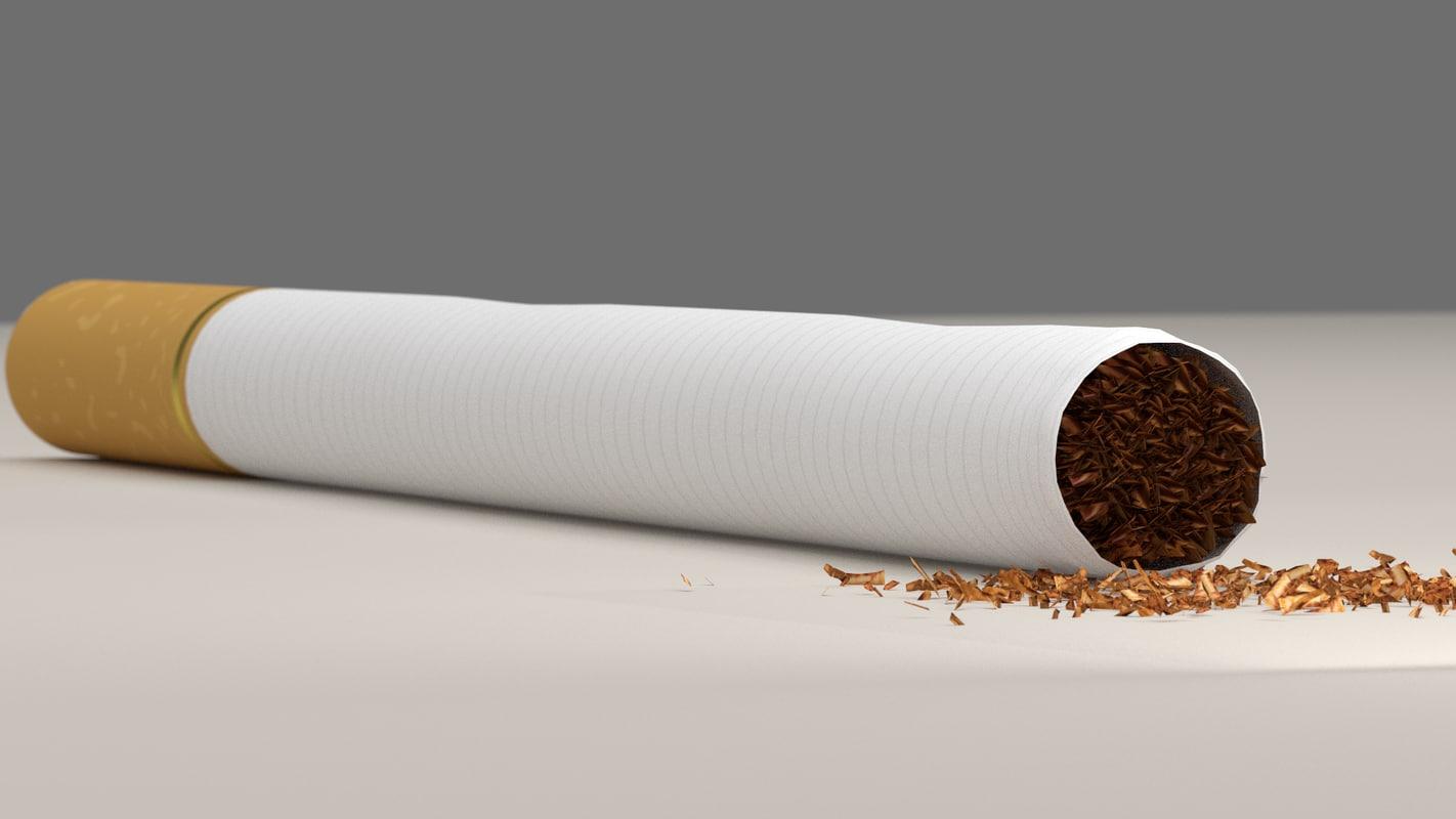 cigarette tobacco 3d model
