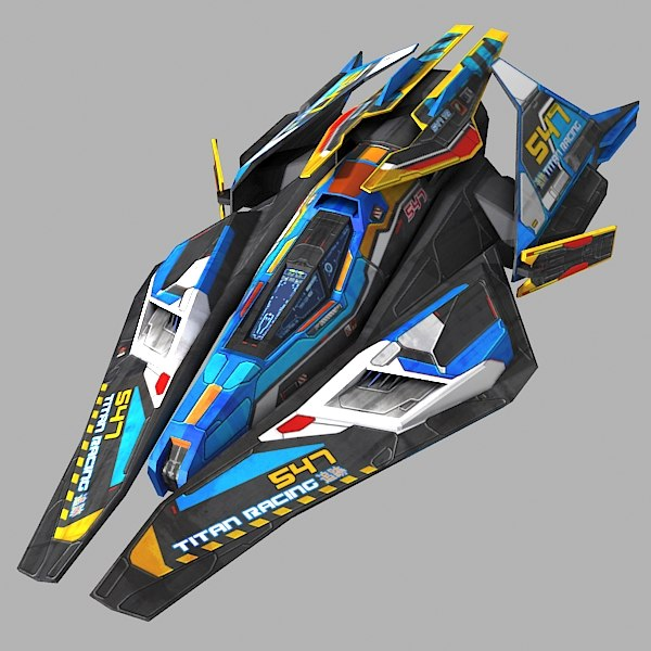 scifi racing-ship 01 max