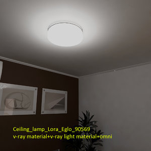 ceiling lamp lora eglo 3d obj