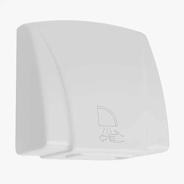3d model hand dryer dry