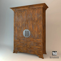 refrigerator cabinet 3d model