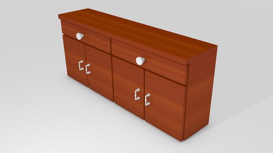 kitchen cabinet 3ds free
