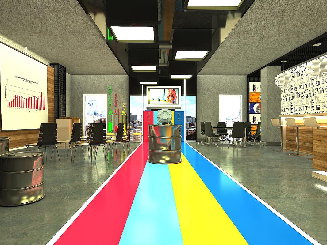 office design 3d max