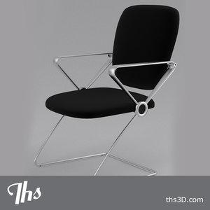 simple chair 3d blend