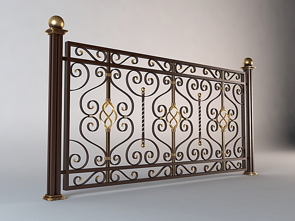 forged fence 3d max