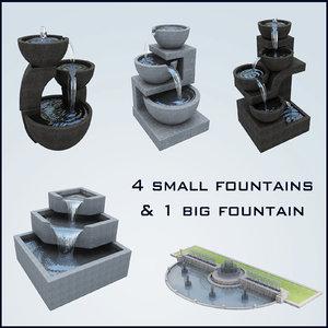 fountain basin 3d max