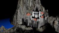 c4d medieval castle