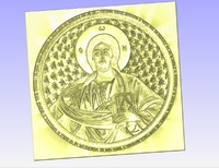 Pantocrator relief for  cnc stl