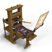 franklin printing press jamin 3d model