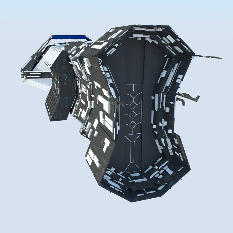 cargo ultra spaceship 3d max
