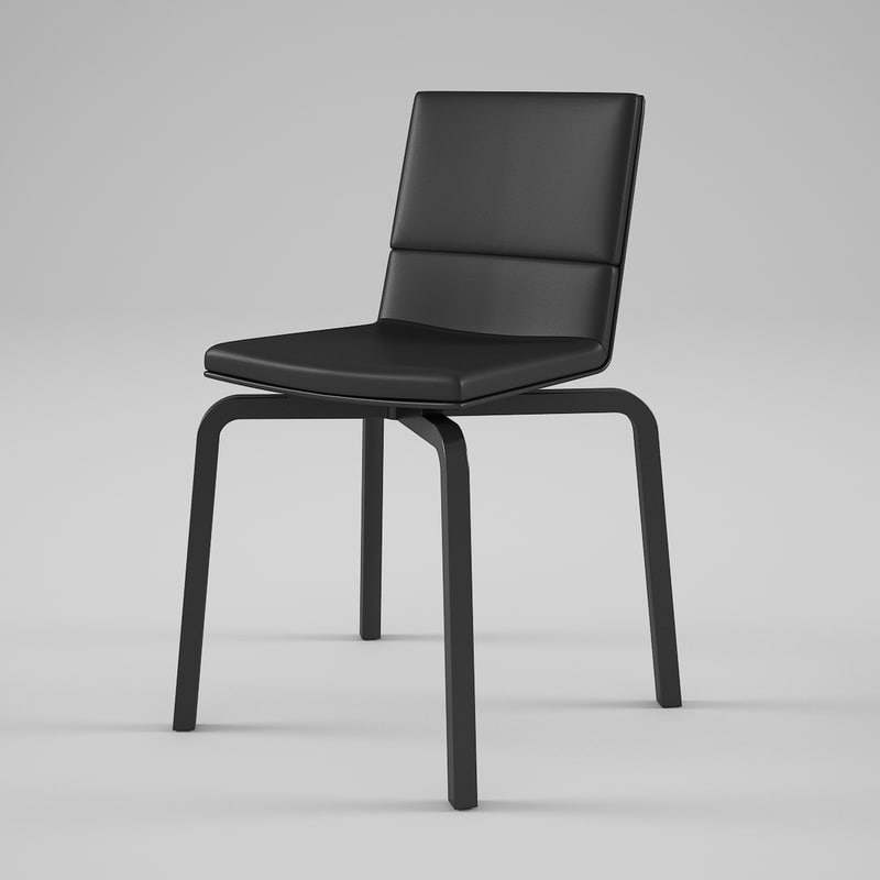 3d artek lento chair upholstered model