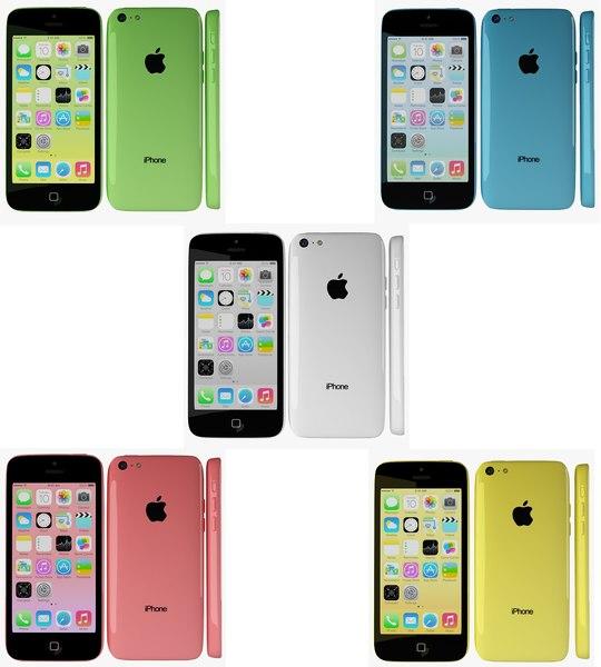 apple iphone 5c 3d model