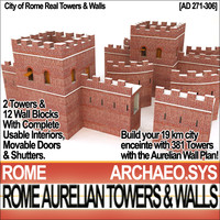 towers walls city rome 3ds