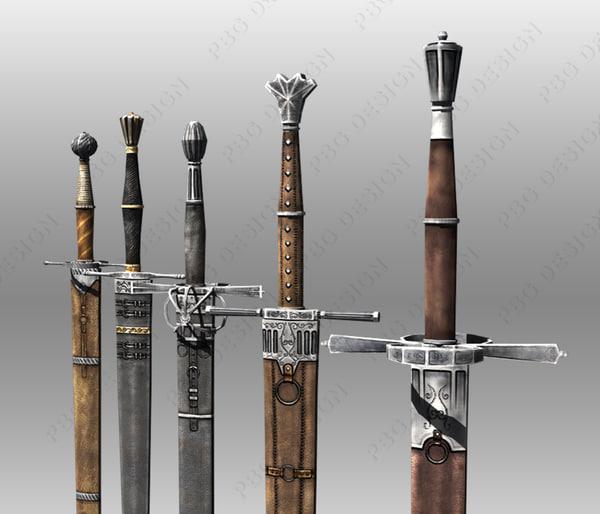 bastard swords 3d model