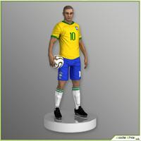 brazil soccer player cg 3d obj