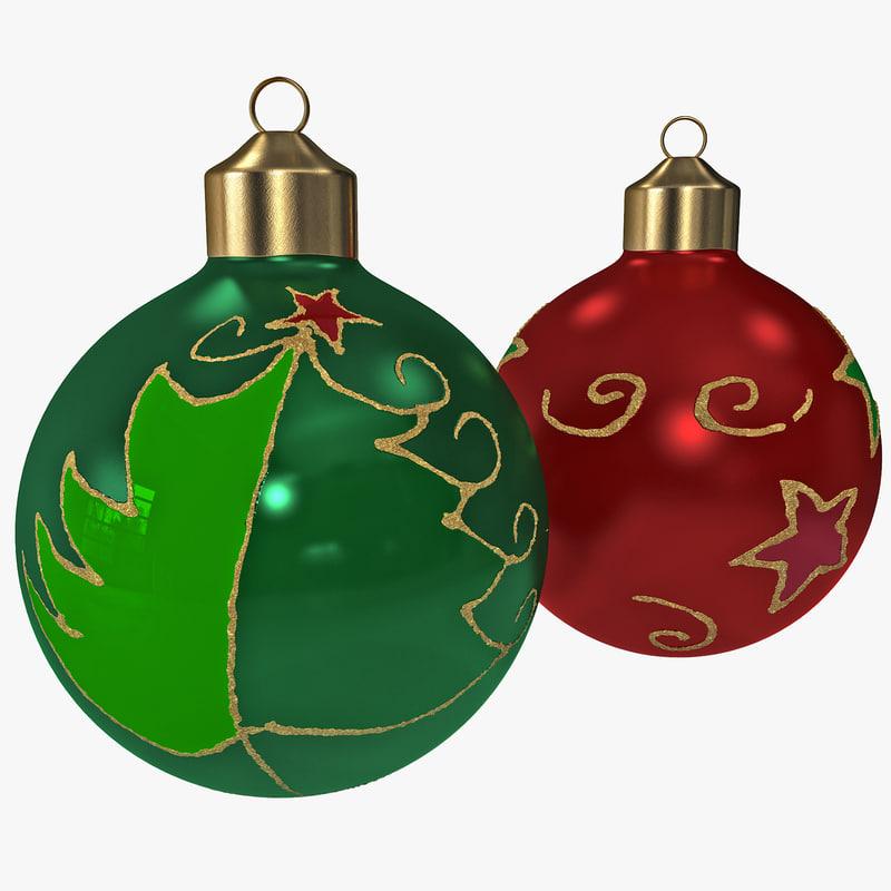 christmas ornament balls obj