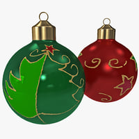 christmas ornament balls obj