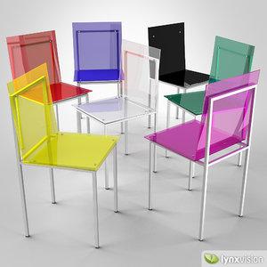 3d model adelphi chair edra