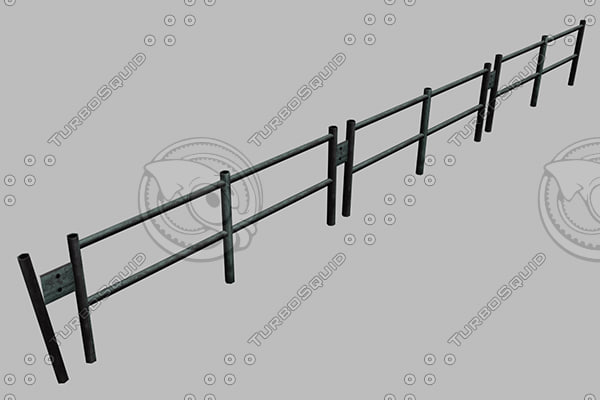 3d model of fence