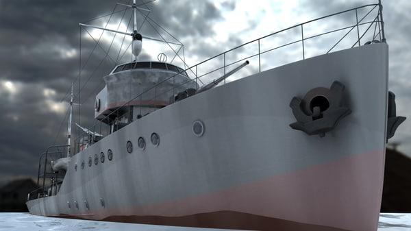 3d ships mine fugas