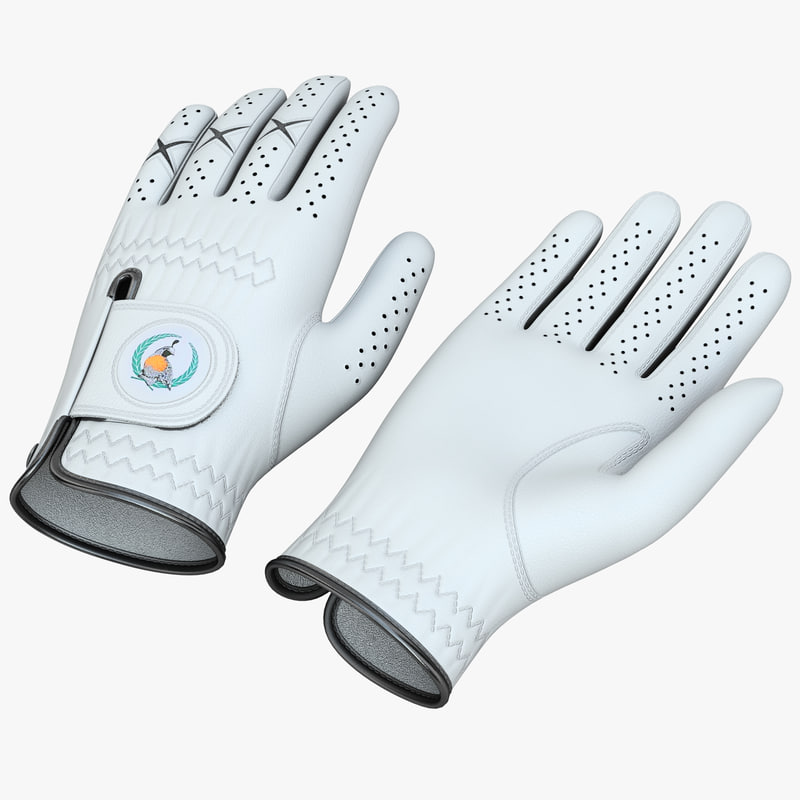 3d model golf glove