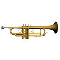 3d model trumpet horns