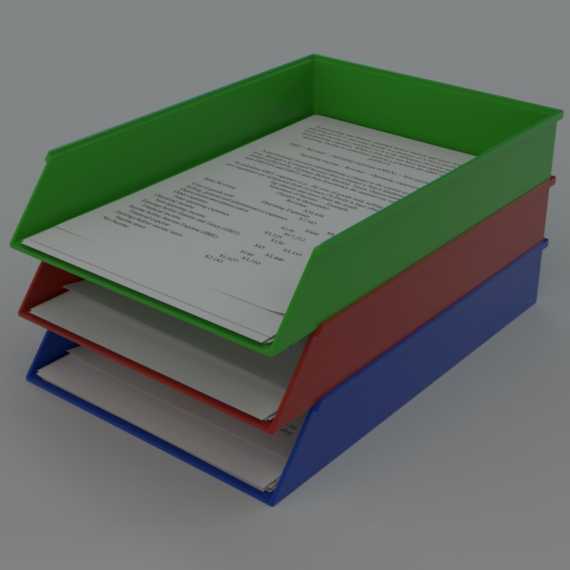 A4 Paper Trays Model