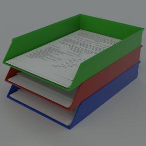 a4 paper trays 3d model