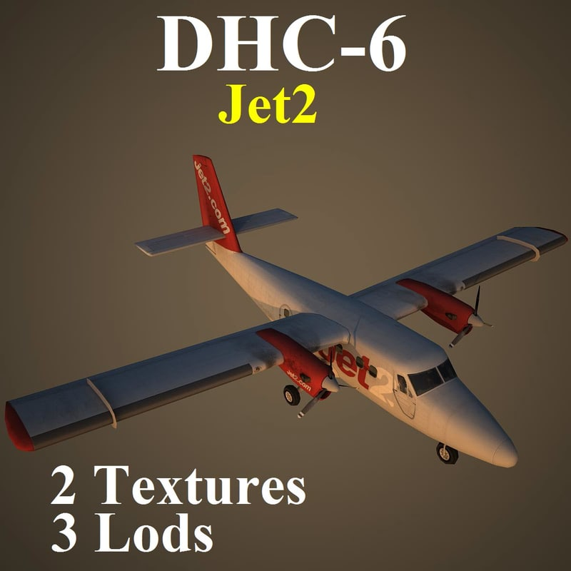3d havilland exs aircraft
