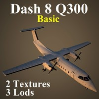 3d bombardier dash 8 basic