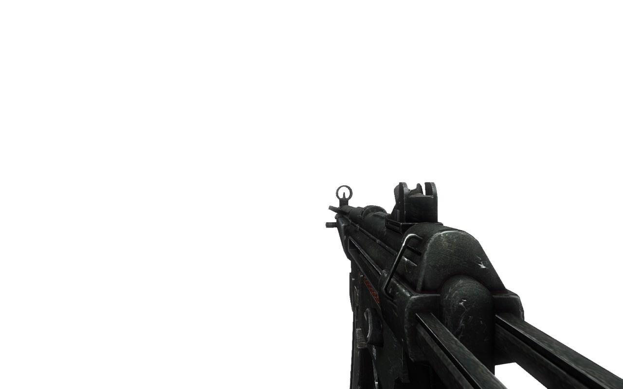 mp5 sub machine gun 3d fbx
