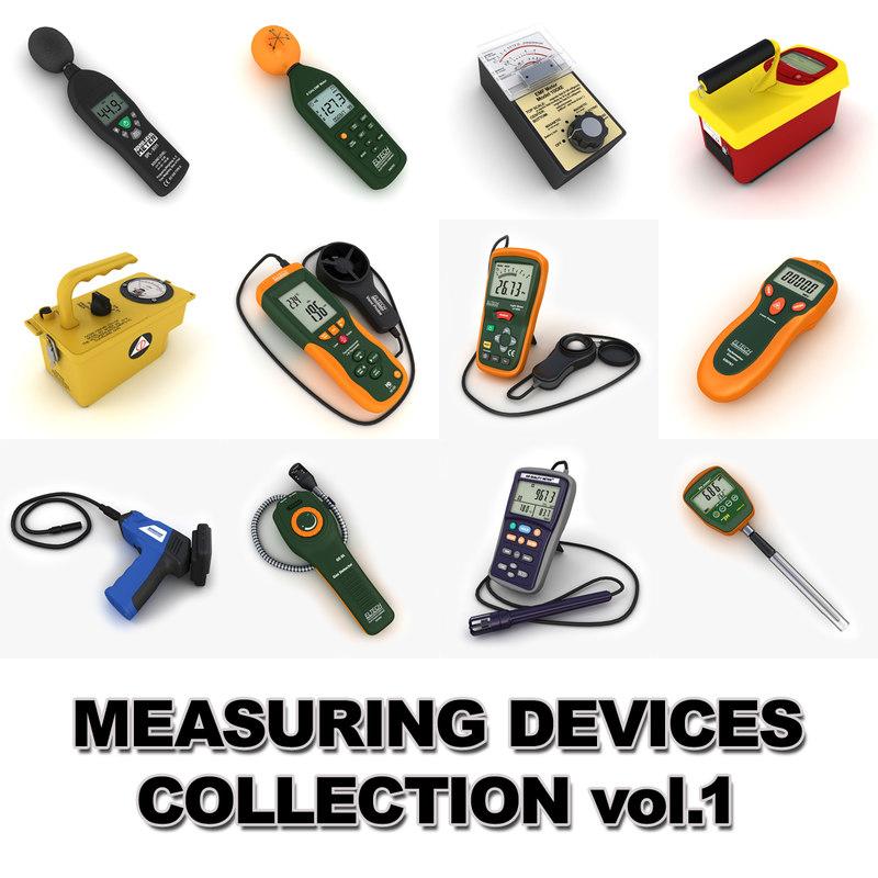 3d model measuring devices vol 1
