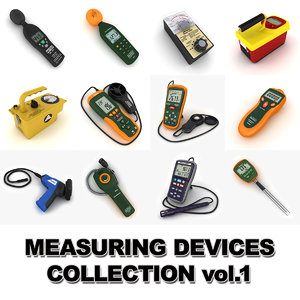 3d model measuring devices vol 1