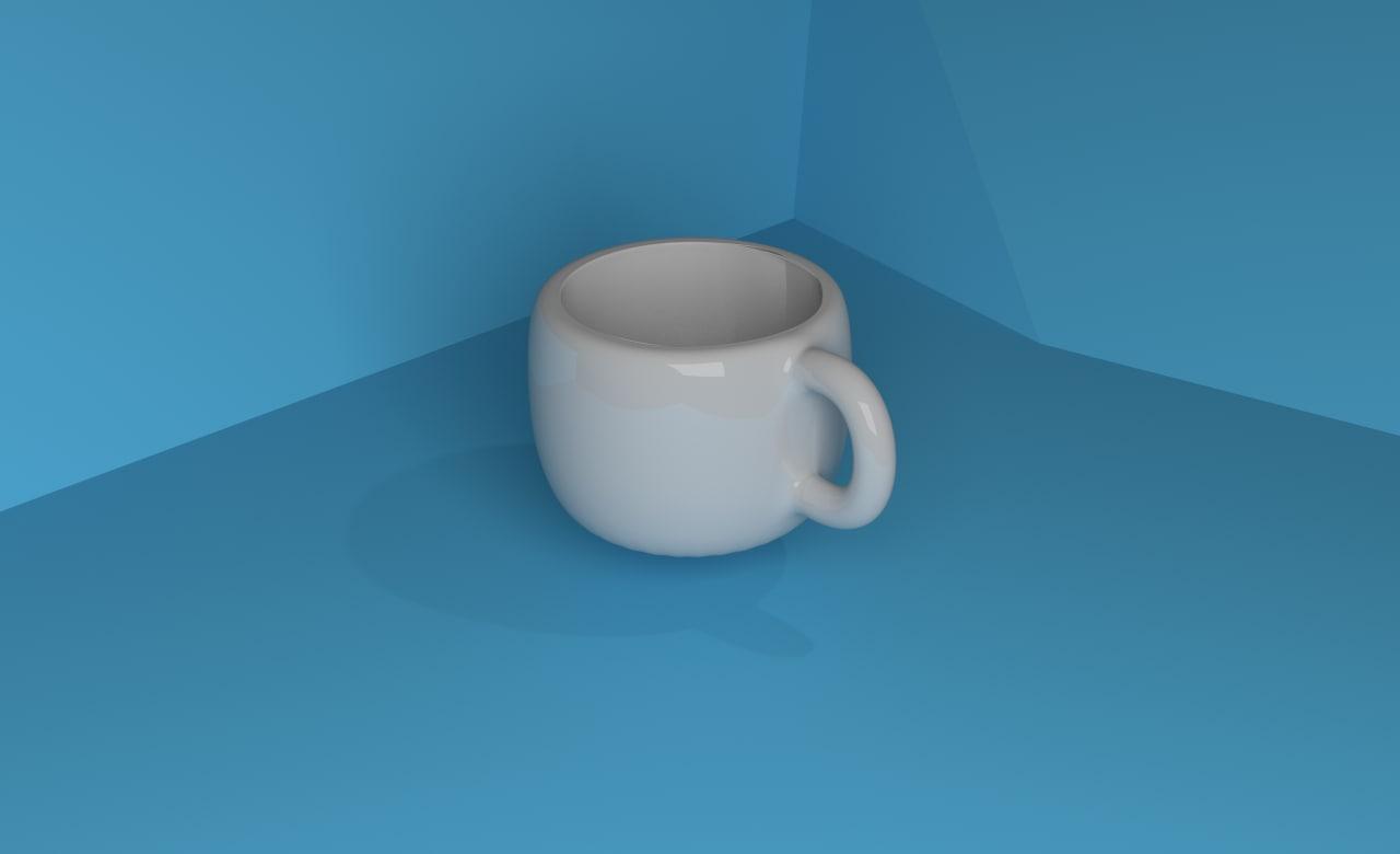 3ds max glassware mug